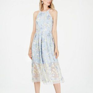 Vince Camuto Petite Floral Fit & Flare Midi Dress